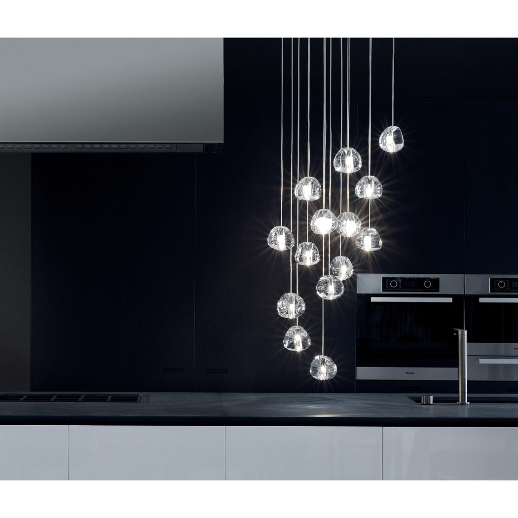 Suspension luminaire design haut de gamme mizu idkrea for Luminaire suspension design