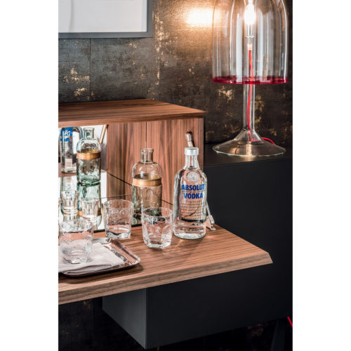 Meuble bar en noyer exclusif - Mobilier de luxe - IDKREA Collection