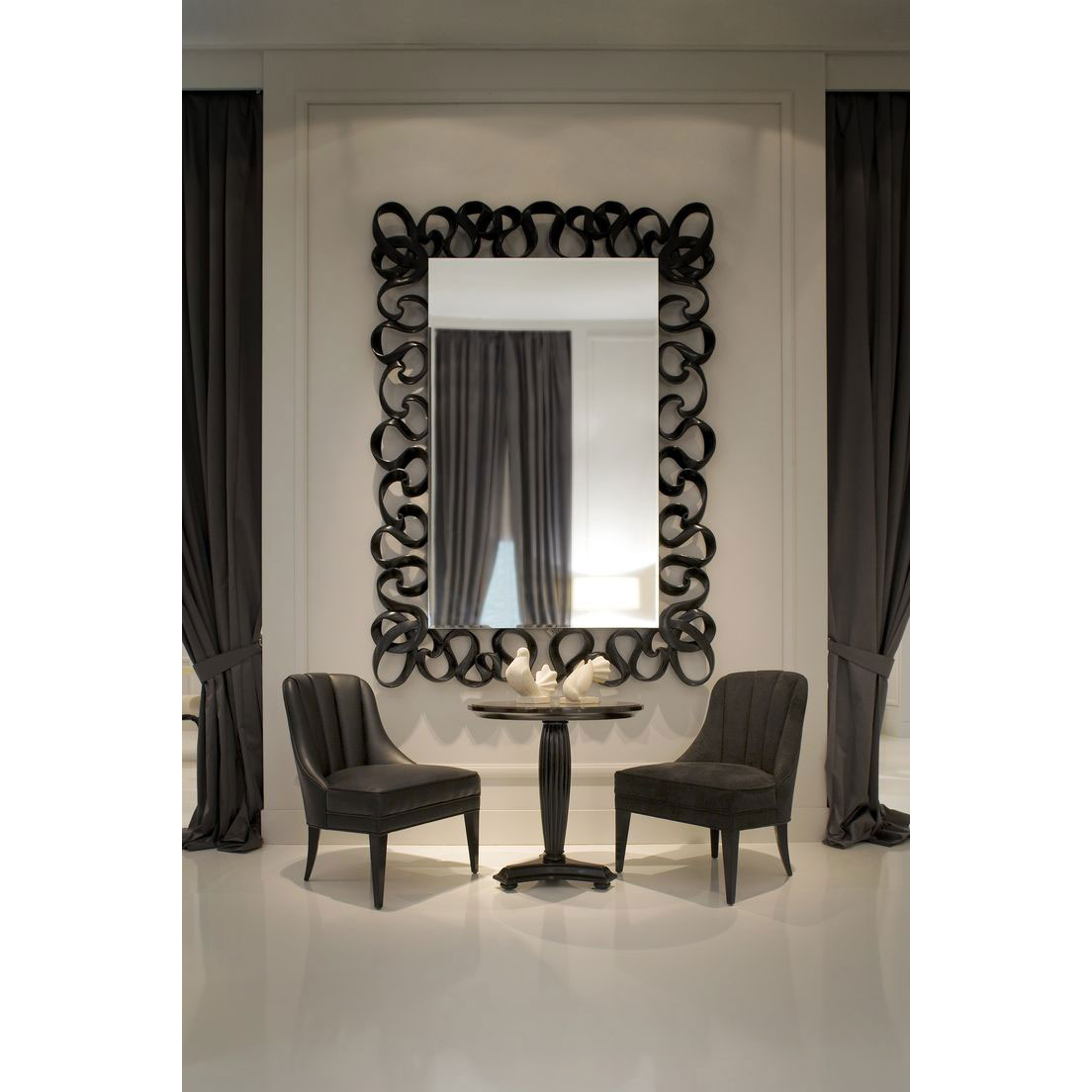 Grand miroir mural design dahlia idkrea collection rennes for Grand miroir mural