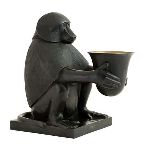 Luminaire design en bronze Monkey Lamp