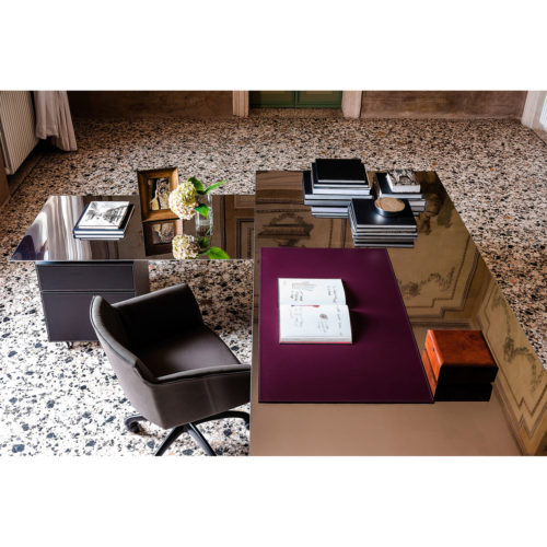 Bureau design de luxe en inox - IDKREA Collection