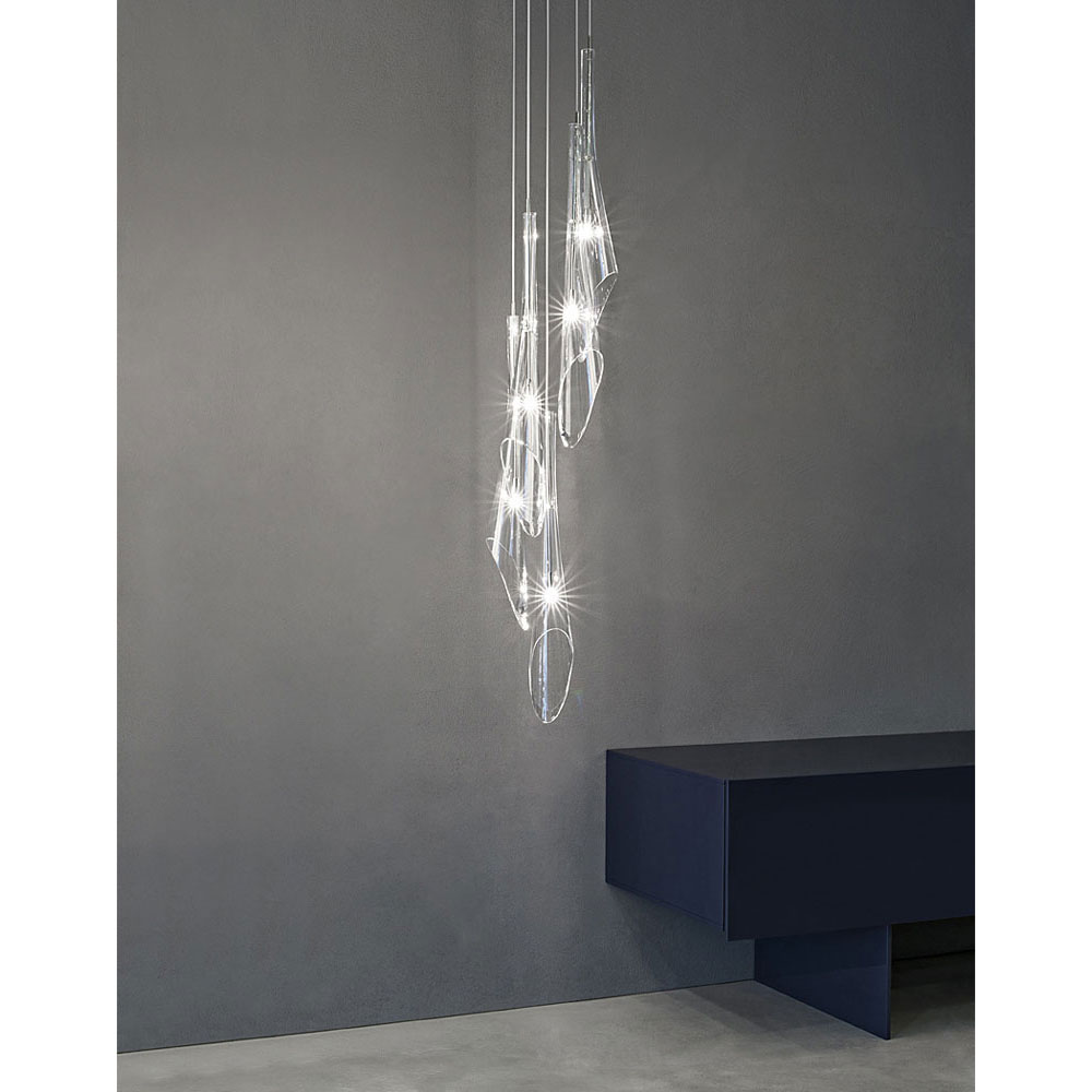 Suspension design en cristal Flute - IDKREA Collection, Rennes