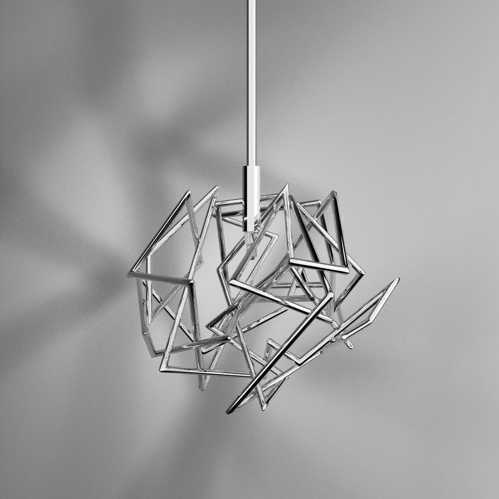 Suspension design en acier et nickel Etoile - IDKREA Collection, Rennes