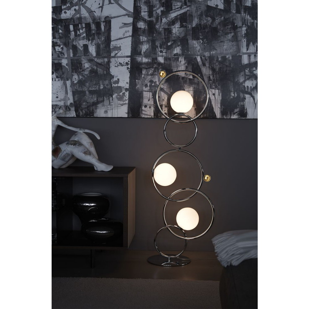 lampe et lampadaire cercles entrelaces IDKREA Collection Rennes 7