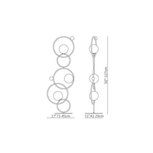 lampe et lampadaire cercles entrelaces IDKREA Collection Rennes 8